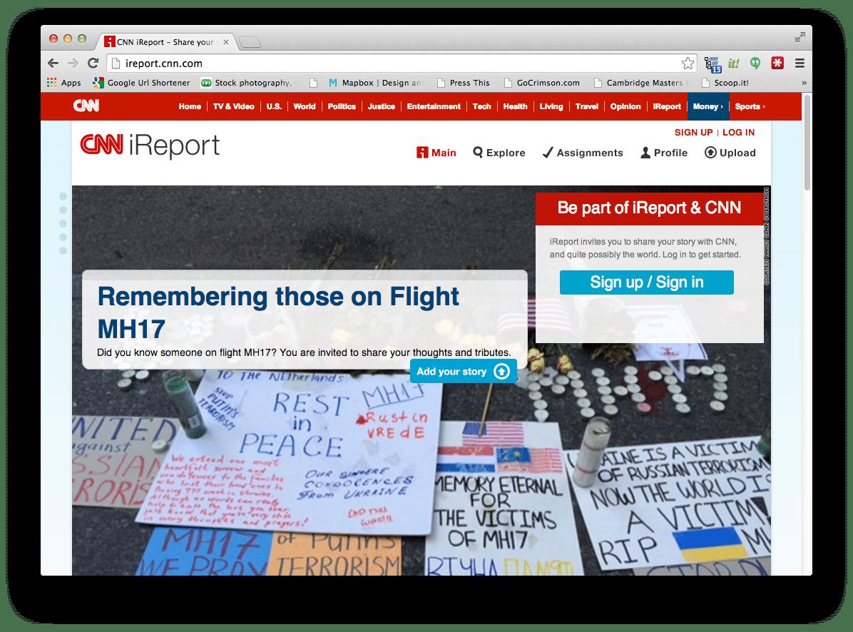 CNN iReport Web Site